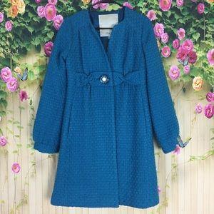 Beth Bowley Blue Wool Pea Coat Size 6